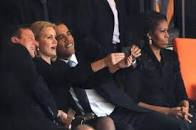 obama takes a selfie
