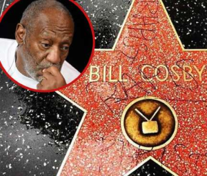 cosby's star defaced