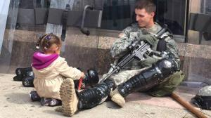 soldier and little girl-baltimore